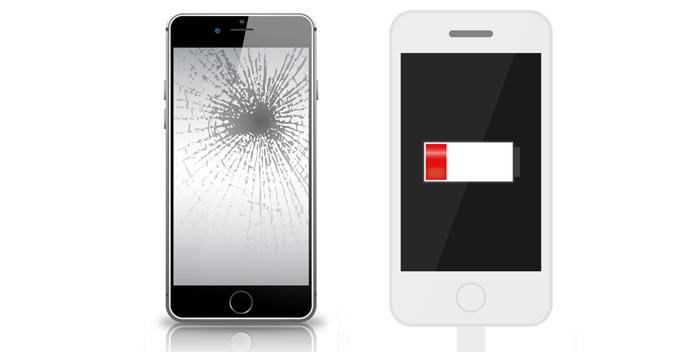 iPhoneの画面割れ・バッテリー交換